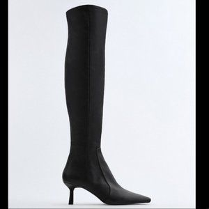 🔥MOVING SALE🔥NEW ZARA EXTRA TALL LEATHER BOOTS